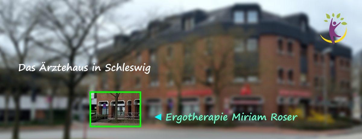 Wie Sie uns finden - im Ärtzehaus Schleswig